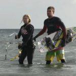 Grömitz: Kiten auf der Ostsee